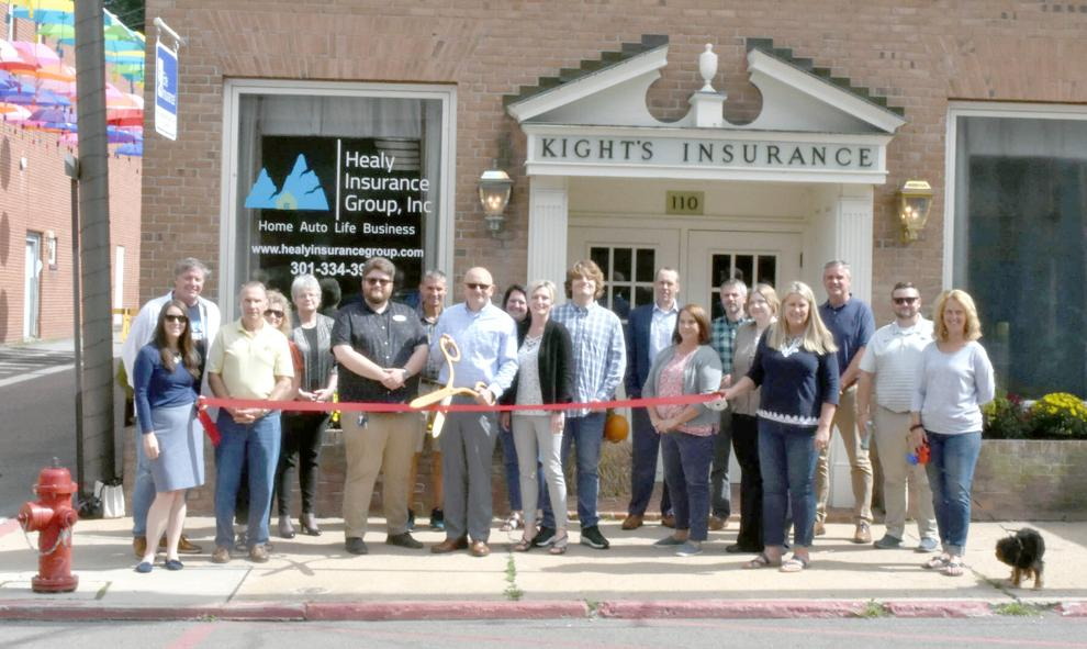 From left are Emily Tobin, Pat Franc, Commissioner Jim Hinebaugh, Chris Funk, Kim Durst, Connor Norman, Fred Gregg, Joe Healy, Nicole McCullough, Erica Healy, Jack Healy, Jeff McCauley of Middletown Valley Bank, Linda Miller, Justin Gregory, Amanda Lewis, Julie Mead, Brian Boal, Brady Duricko and Brenda Brosnihan.